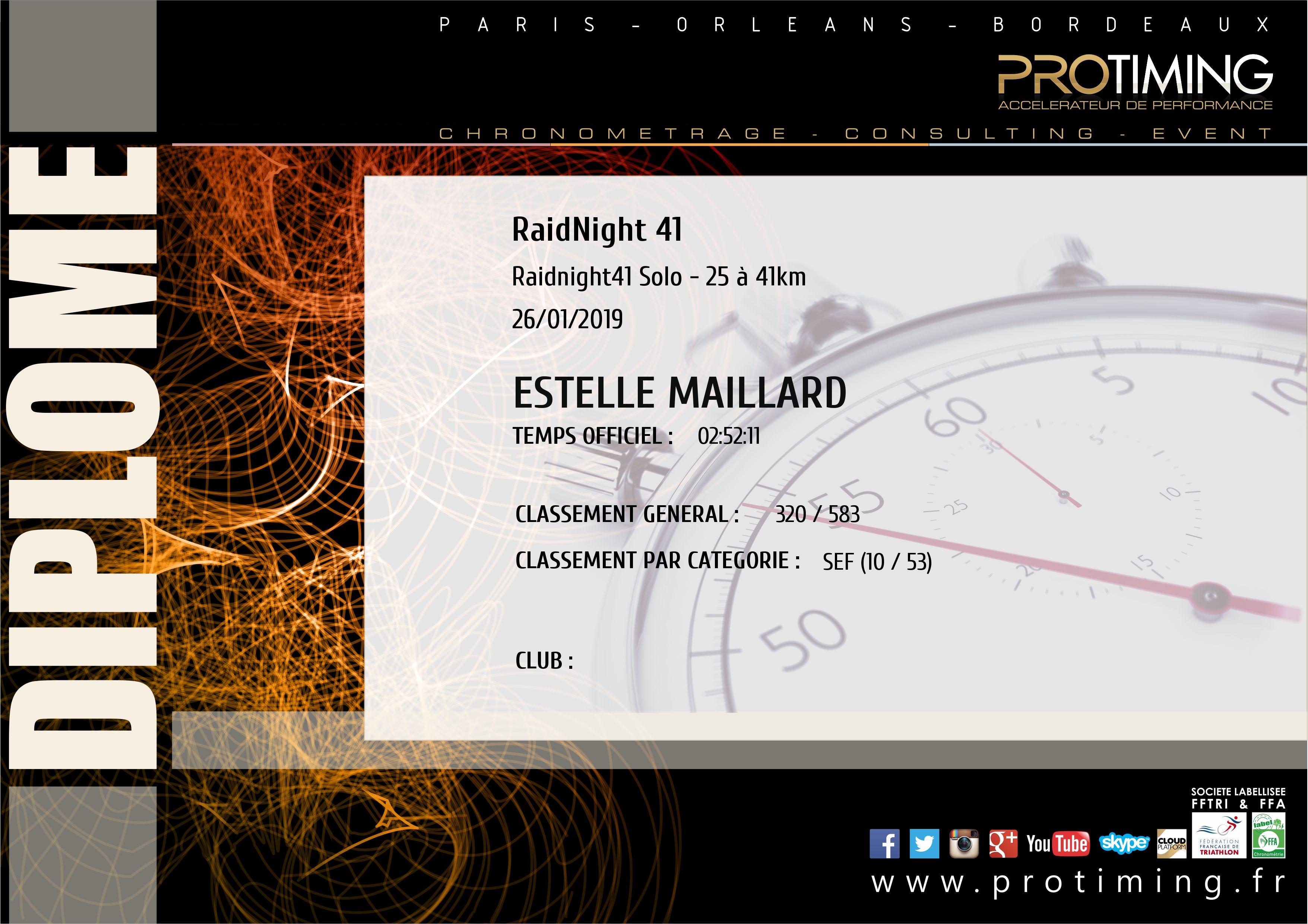 Résultats : RaidNight 41 ProTiming